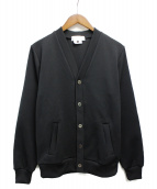 GANRYU(ガンリュウ)の古着「ジャージーカーディガン」|ブラック