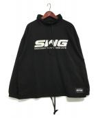 SWAGGER(スワッガー)の古着「モックネックスウェット」 ブラック