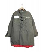 SWAGGER(スワッガ)の古着「ベルテッド中綿コート」 カーキ
