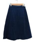Koe×THOM BROWNE(コエ×トムブラウン)の古着「コラボコーデュロイスカート」 ネイビー