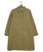 Koe×THOM BROWNE(コエ×トムブラウン)の古着「ステンカラーコート」|キャメル