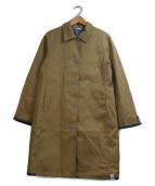 Koe×THOM BROWNE(コエ×トムブラウン)の古着「コラボステンカラーコート」|ベージュ