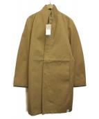 Koe×THOM BROWNE(コエ×トムブラウン)の古着「ボンディングオーバーコート」|キャメル