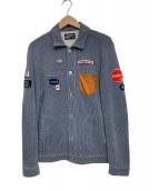 LOOPWHEELER(ループウィラー)の古着「ジャケット」 ブルー×ホワイト