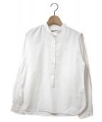 MARGARET HOWELL(マーガレットハウエル)の古着「SOFT COTTON TWILL P/O SHIRTS」|ホワイト