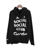 ANTI SOCIAL SOCIAL CLUB(アンチソーシャルソーシャルクラブ)の古着「プルオーバーパーカー」|ブラック