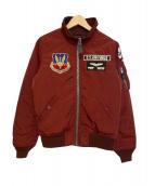 AVIREX(アビレックス)の古着「MA-1ジャケット」|ワインレッド