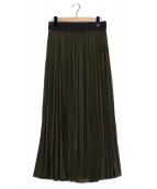 AP STUDIO(エーピーストゥディオ)の古着「プリーツスカート」|オリーブ