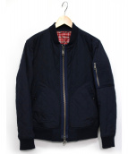 BURBERRY BLACK LABEL(バーバリーブラックレーベル)の古着「キルティングMA-1ジャケット」|ネイビー
