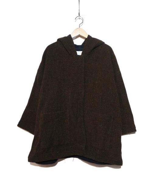 JOURNAL STANDARD LUXE(ジャーナルスタンダードラックス)JOURNAL STANDARD LUXE (ジャーナルスタンダードラックス) フードワイドコート ブラウン サイズ:F 未使用品の古着・服飾アイテム