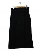 MUVEIL Work(ミュベールワーク)の古着「ウエストリボンラップスカート」 ブラック