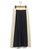 WRAPINKNOT(ラッピンノット)の古着「サイドラインTプリーツスカート」|グレー