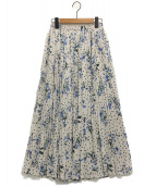 IENA(イエナ)の古着「ドットフラワープリーツスカート」|ナチュラル