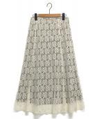 IENA(イエナ)の古着「フレアーフラワーレーススカート」|オフホワイト