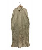 Whim Gazette(ウィムガゼット)の古着「シャツワンピース」|ベージュ