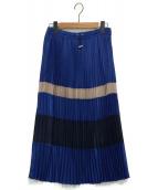 JOURNAL STANDARD(ジャーナルスタンダード)の古着「パールシフォンプリーツスカート」|ブルー