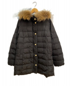 franche lippee(フランシュリッペ)の古着「パールボタンダウンコート」 ブラック