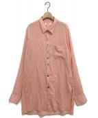 sulvam(サルバム)の古着「ロングオーバーシャツ」|ピンク