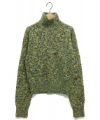 FUMIKA UCHIDA(フミカ ウチダ)の古着「ハイネックニット」|グリーン