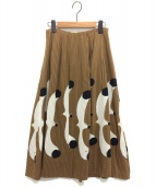 peu pres(プープレ)の古着「かもめスカート」|キャメル