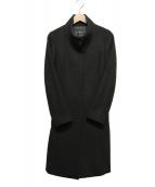 INDIVI(インディヴィ)の古着「ビーバースタンドカラーコート」 ブラック