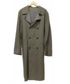 STEVEN ALAN(スティーブンアラン)の古着「リバーシブルトレンチコート」|オリーブ×グレー