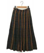 tricot COMME des GARCONS(トリコ コムデギャルソン)の古着「タータンチェックスカート」|グリーン