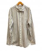 Gymphlex(ジムフレックス)の古着「オーバーサイズストライプシャツ」 ホワイト