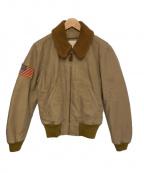 Denim & Supply Ralph Lauren(デニム&サプライ ラルフローレン)の古着「フライトジャケット」|ベージュ