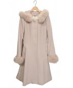 LAISSE PASSE(レッセパッセ)の古着「2WAYフードロングコート」|ピンク