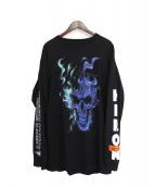 HERON PRESTON(ヘロン プレストン)の古着「長袖Tシャツ」|ブラック
