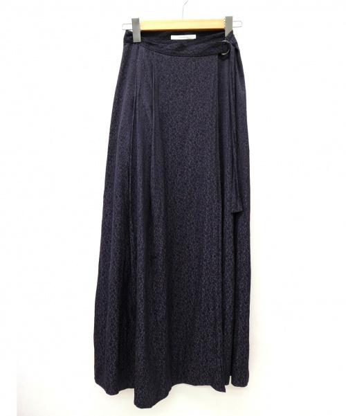 SLOBE IENA Fi.m(スローブ イエナ)SLOBE IENA Fi.m (スローブ イエナ) フラワージャガードタックスカート サイズ:36の古着・服飾アイテム