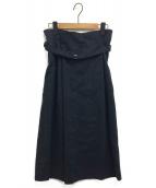 ADORE(アドーア)の古着「ストレッチスカート」 ネイビー
