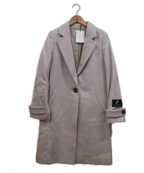 ROPE(ロペ)ROPE (ロペ) ポンテトルトチェスターコート ピンク サイズ:38  ROPE mademoiselle限定アイテムの古着・服飾アイテム