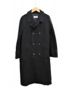 robe de chambre COMME des GARCONS(ローブドシャンブルコムデギャルソン)の古着「ウールボンディングコート」 ブラック
