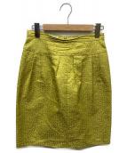 DRIES VAN NOTEN(ドリスバンノッテン)の古着「ジャガードスカート」 イエロー