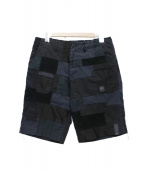 MOUNTAIN RESEARCH(マウンテンリサーチ)の古着「PATCHED SHORTS」|ブラック
