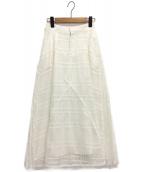 CLEANA(クリーナ)の古着「レースフレアスカート」|ホワイト