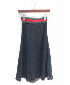 GUCCI(グッチ)の古着「レーススカート」|ブラック