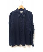MARGARET HOWELL(マーガレットハウエル)の古着「ボックスシャツ」 ネイビー