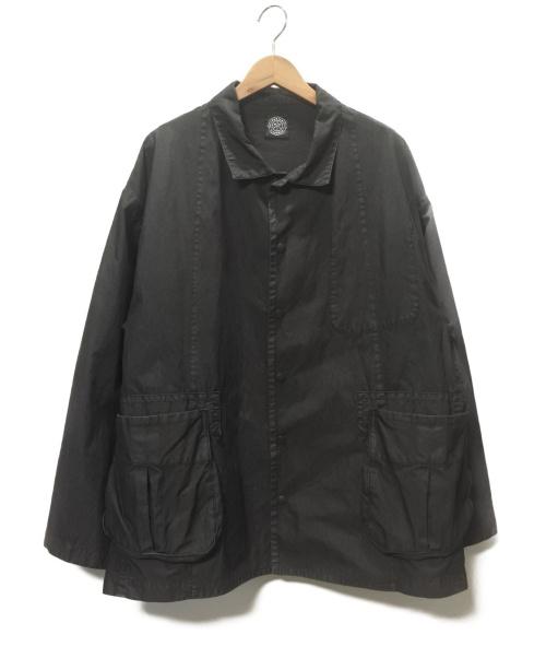 Porter Classic(ポータークラシック)Porter Classic (ポータークラシック) シャツジャケット ブラック サイズ:SIZE 3 POPLIN MIL-SHIRT JKT 19SSの古着・服飾アイテム