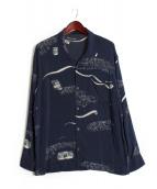 Porter Classic(ポータークラシック)の古着「ALOHA LONG SHIRT」|ネイビー