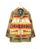 PENDLETON(ペンドルトン)の古着「ハーディングブランケットジャケット」|ブラウン
