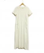 qualite(カリテ)の古着「綿麻ストレッチロングワンピース」|ホワイト