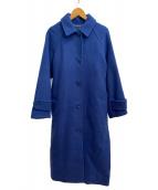 Mila Owen(ミラオーウェン)の古着「後ろタックステンカラーコート」|ブルー