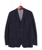 COMME des GARCONS HOMME(コムデギャルソンオム)の古着「ウール3Bジャケット」|ネイビー