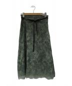 BEIGE(ベイジ)の古着「レーススカート」|グリーン