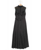 Ameri VINTAGE(アメリビンテージ)の古着「LADY BUSTIER ROMPERS DRESS」|ブラック