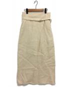 nagonstans(ナゴンスタンス)の古着「ハイウエストラップスカート」|ベージュ