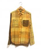 NIGEL CABOURN(ナイジェルケーボン)の古着「マドラスチェックミックスシャツ」 イエロー